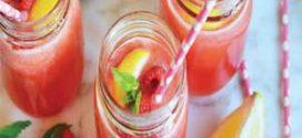 نوشیدنی خوشمزه و رژیمی لیموناد میوه ای